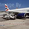 GW14000-50 = Scene at the Airport of Palma de Mallorca ( GB Airways Airbus A320-200 reg G-TTOG in BA livery on pier during refuelling from ramp hydrant ), Balearic Islands, Spain.